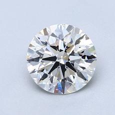 1.11-Carat Round Diamond Ideal F VS1