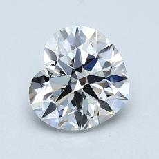 1.00-Carat Heart Diamond ASTOR F VS2