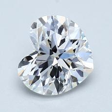 推薦鑽石 #3: 1.21 克拉心形切割鑽石