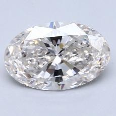 1.30 Carat 椭圆形 Diamond 非常好 I VS1