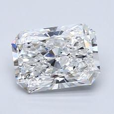 1.50-Carat Radiant Diamond Very Good D IF