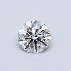 0.50-Carat Round Diamond Ideal J SI2