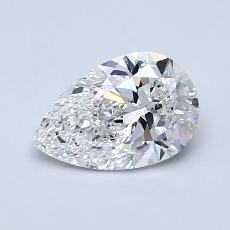 0.90 Carat 梨形 Diamond 非常好 E VS2