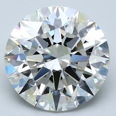 4.10-Carat Round Diamond Ideal H VS1