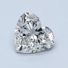 Piedra recomendada 2: Diamante con forma de corazón de 1.00 quilates