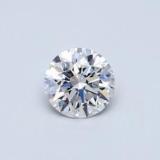 所選擇的鑽石: 0.41 克拉圓形切割鑽石
