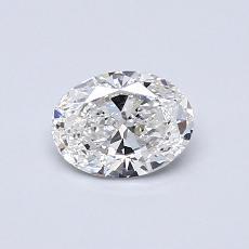 0.51 Carat 橢圓形 Diamond 非常好 F VS2