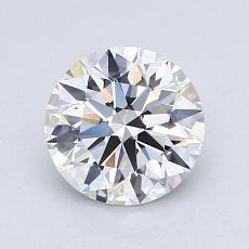 1.29 Carat 圆形 Diamond 理想 E VVS1