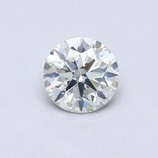 0,50-Carat Round Diamond Ideal I SI2