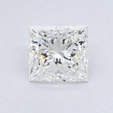 1.02 Carat 公主方形 Diamond 非常好 F IF