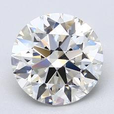 2.56-Carat Round Diamond Ideal I VVS2