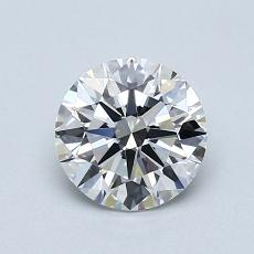 1.00-Carat Round Diamond Ideal D FL