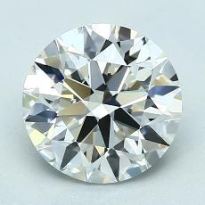 推荐宝石 4:2.07克拉圆形切割钻石