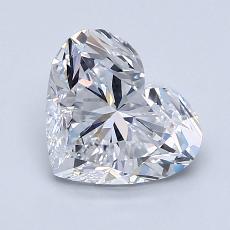 推薦鑽石 #4: 1.70 克拉心形切割鑽石