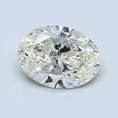 1,00 Carat Ovale Diamond Très bonne K SI1