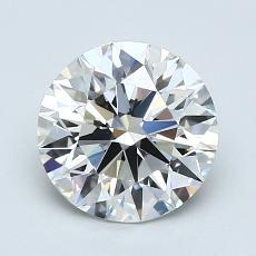 1.63-Carat Round Diamond Ideal H VVS1