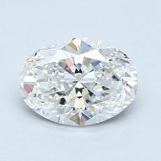 1.01 Carat 椭圆形 Diamond 非常好 E IF
