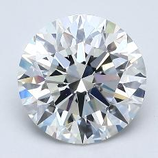 2.05 Carat 圆形 Diamond 理想 G VS1