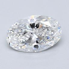 1.01 Carat 椭圆形 Diamond 非常好 D VVS2