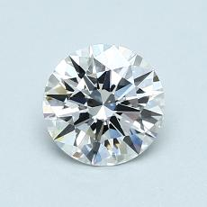 0,78-Carat Round Diamond Ideal D VVS1