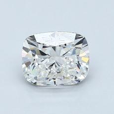1.01-Carat Cushion Diamond Very Good G VVS1