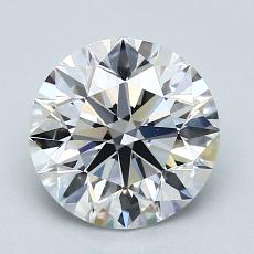 2.00-Carat Round Diamond Ideal D VVS1