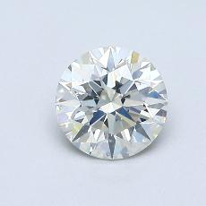 0.61-Carat Round Diamond Ideal J SI1