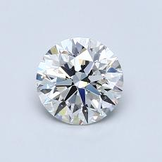 0,75-Carat Round Diamond Ideal H VVS1