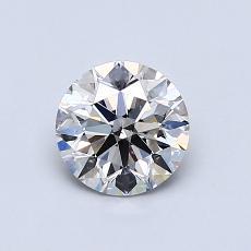 0.75-Carat Round Diamond Ideal I SI1