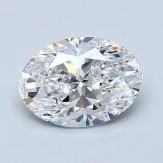 1.20 Carat 椭圆形 Diamond 非常好 D VVS1
