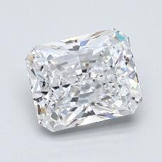 1.21-Carat Radiant Diamond Very Good D IF