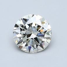 1.00 Carat ラウンド Diamond アイデアル K VVS1