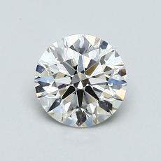 0.75-Carat Round Diamond Ideal I VVS2