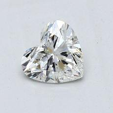 0.78-Carat Heart Diamond Very Good H SI1