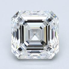 Piedra recomendada 3: Diamante de talla Asscher de 2.01 quilates