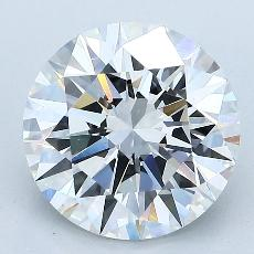 3.02-Carat Round Diamond Ideal F VVS1