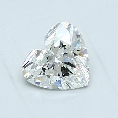 0.90-Carat Heart Diamond Very Good H SI2