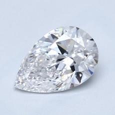 Piedra recomendada 3: Diamante en forma de pera de1.01 quilates