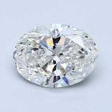 1.20-Carat Oval Diamond Very Good I SI1