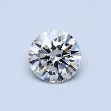 0.53 Carat 圆形 Diamond 理想 H VS2