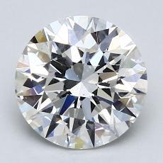 2.01 Carat Redondo Diamond Ideal F SI1