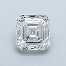 1.01-Carat Asscher Diamond Very Good I VS1