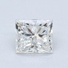 0.95-Carat Princess Diamond Good G SI2