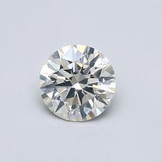 0.52-Carat Round Diamond Ideal K SI2
