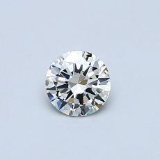 オススメの石No.4:0.30カラットのラウンドカットダイヤモンド