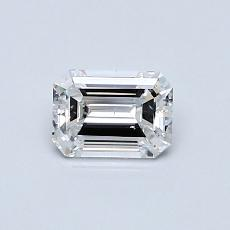 0.50-Carat Emerald Diamond Very Good E SI2
