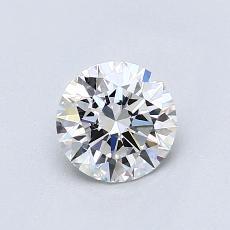 0.71-Carat Round Diamond Ideal D VVS1