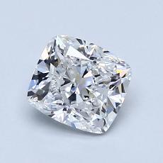 推荐宝石 1:1.20 克拉垫形钻石