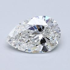 1.00-Carat Pear Diamond Very Good F SI1