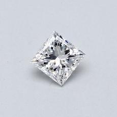 Recommended Stone #4: 0,30-Carat Princess Cut Diamond